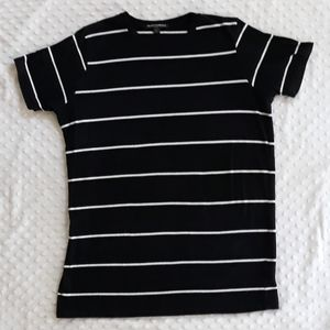 Brandy Melville One Size striped tee t shirt black